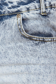 Blue Denim Stone Wash Strap Detail Dungarees
