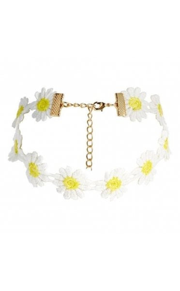 Crochet Yellow & White Daisy Choker