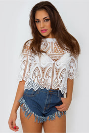 Limited Edition White Lace Boxy Top