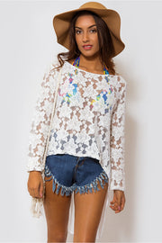 Gypysia Oversize Lace Top