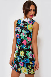 Marianna Floral Sleeveless Shift Dress In Green