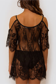 Lola Black Lace Cover Up