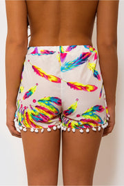 Feather Pom Pom Shorts