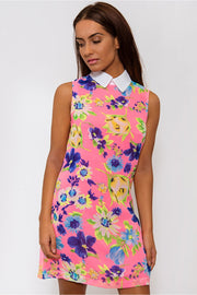 Pink Floral Shift Dress