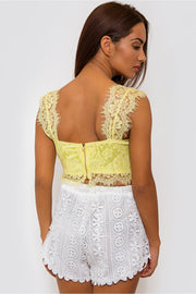 Yellow Lace Bralet Top