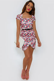 Celebrity Style Floral Bodycon Dress