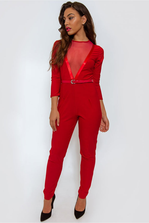 Dior Mesh Red Playsuit