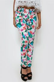 Limited Edition Flamingo Print Tropical Jeans