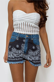 Bohemian Denim Shorts