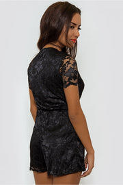 Lucca Black Lace Playsuit
