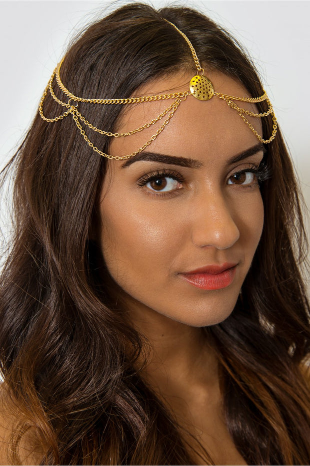 Boho Golden Goddess Hair Chain