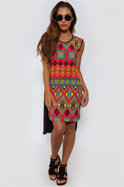 Oversized Side Split Aztec Top