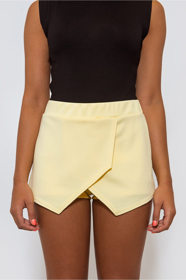 Verity Yellow Jersey Skort