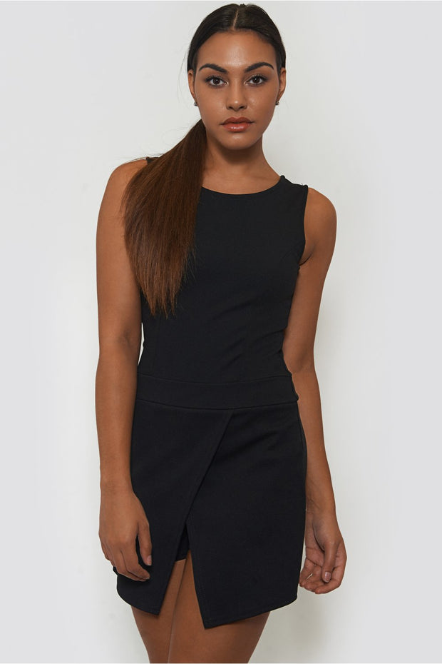 Antonia Black Playsuit