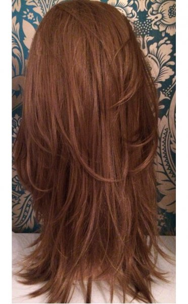 Hollywood Golden Brown Double Volume 3/4 Reversible Hair Piece