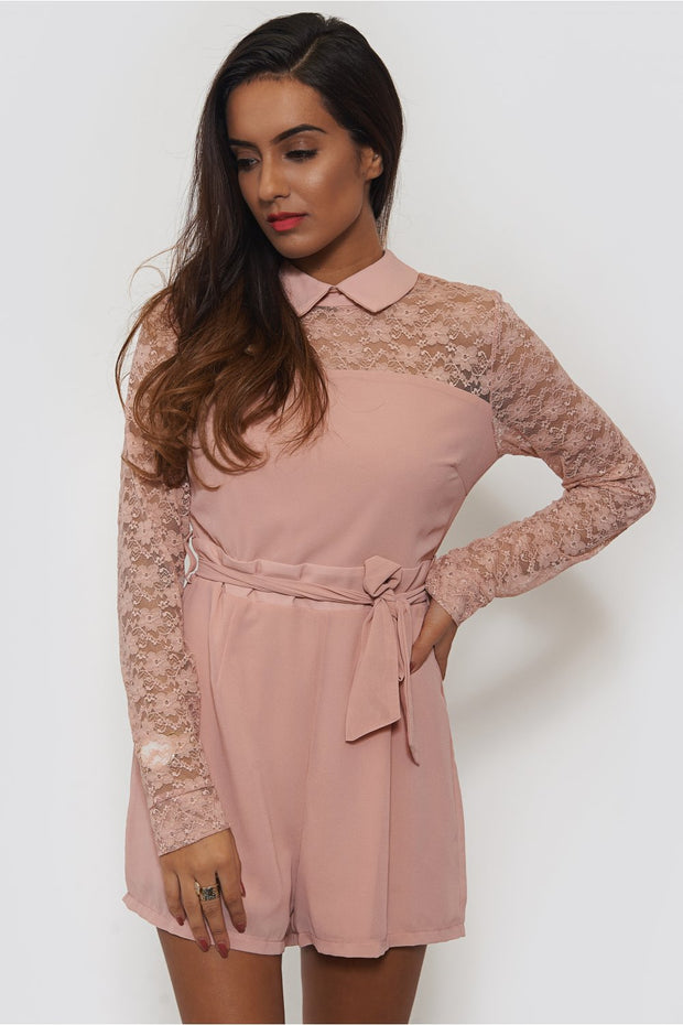 Nude Lace Playsuit