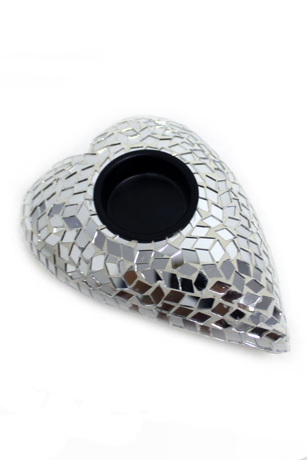Silver Mosaic Tealight Holder
