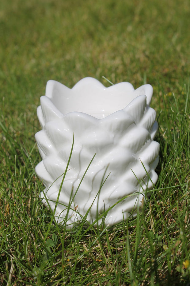 White Pineapple Tealight Holder