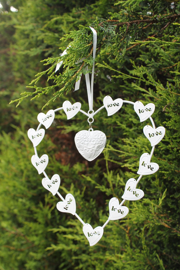 White Love Decorative Heart