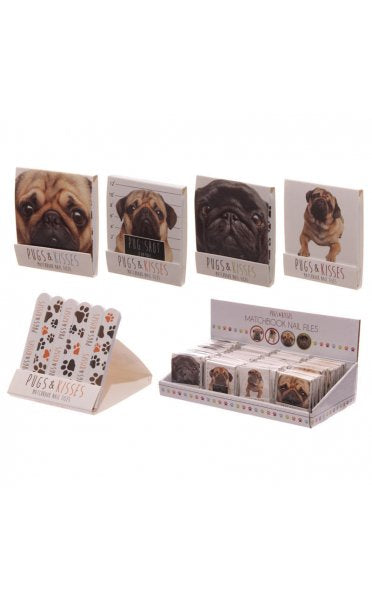 Pugs & Kisses Nail File Matchbook