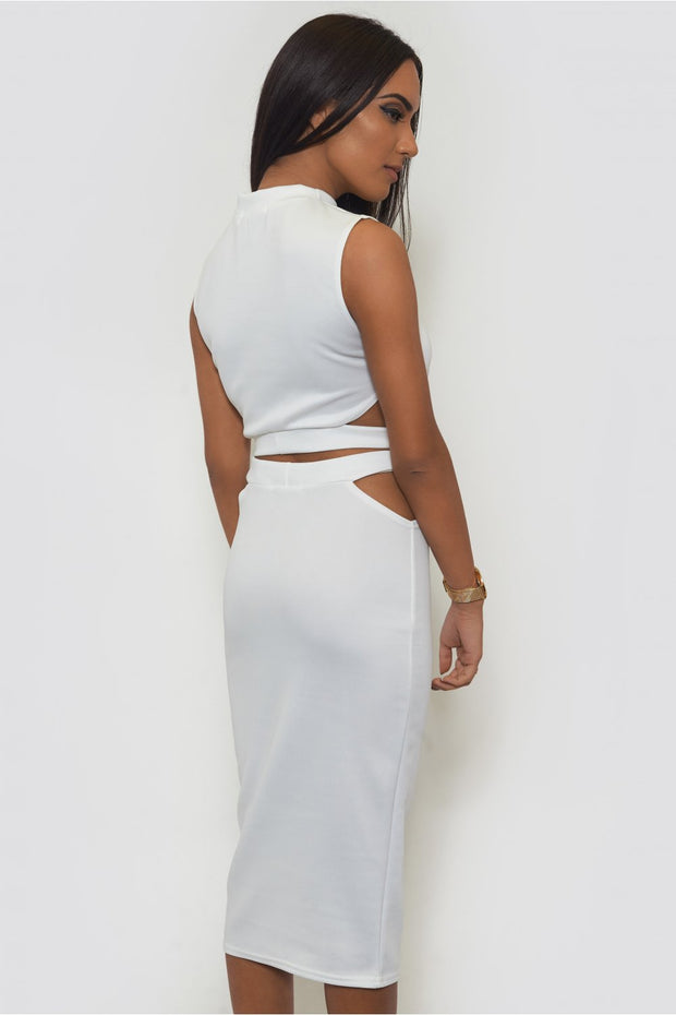 Tempest Bodycon Skirt & Boxy Top In White