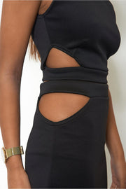 Tempest Bodycon Skirt & Boxy Top In Black