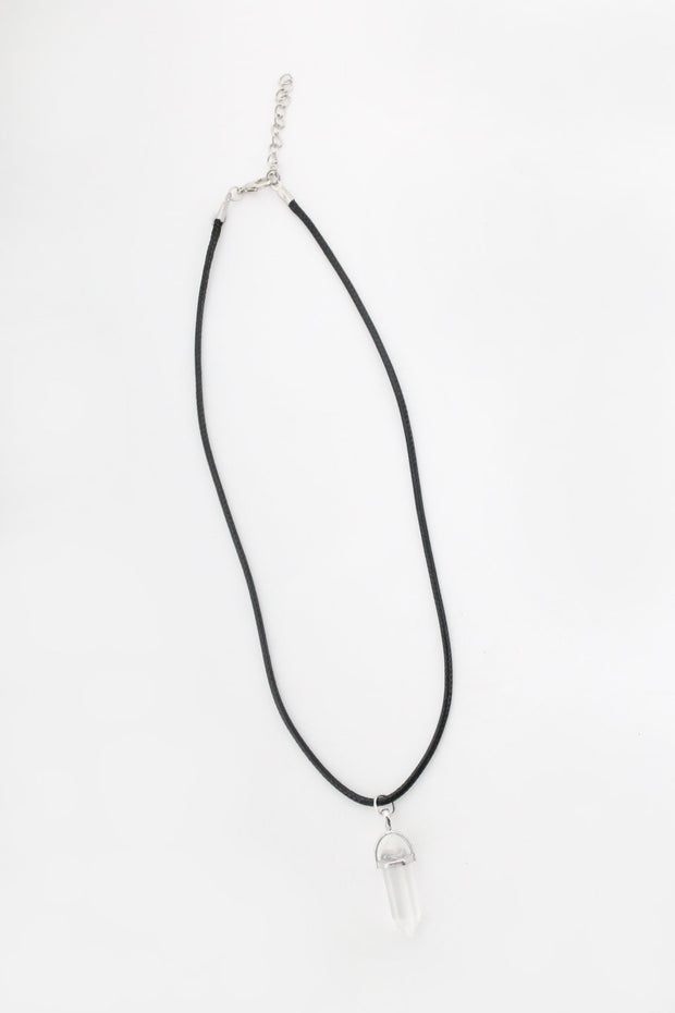 Onyx Quartz Clear Necklace