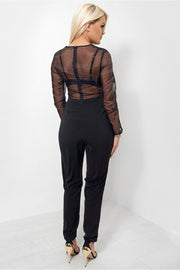 Black Lace Jumpsuit