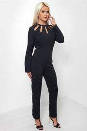 Rosa Cut Out Black Jumpsuit