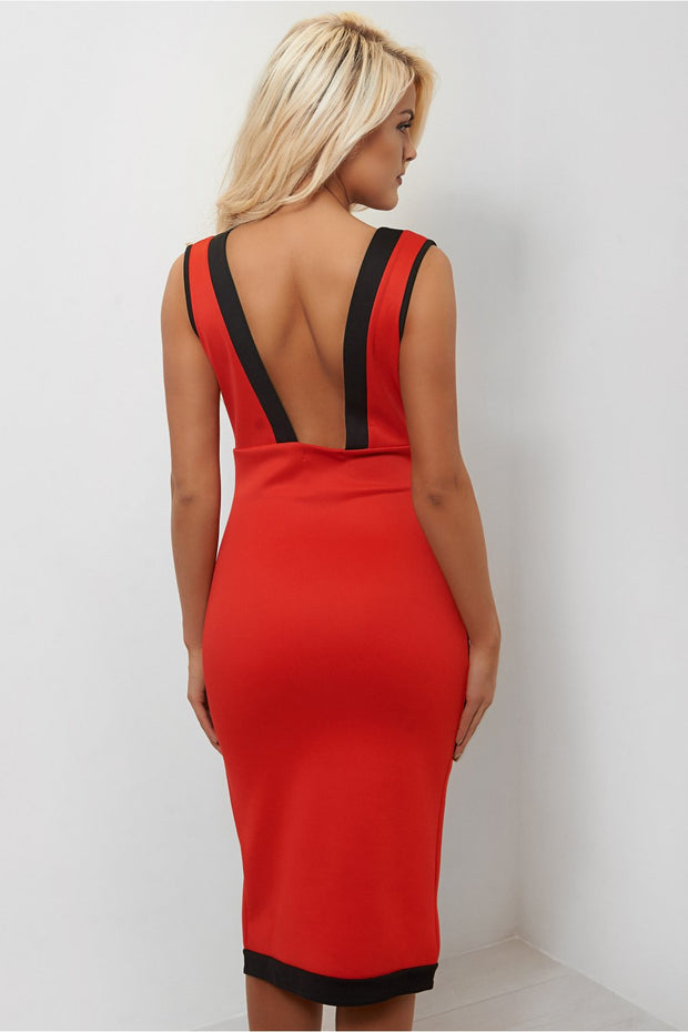 Sweet Surrender Red Side Split Bodycon Dress