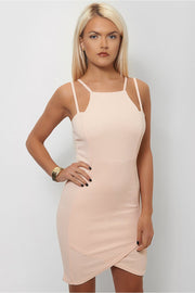 Mia Nude Strappy Bodycon Dress