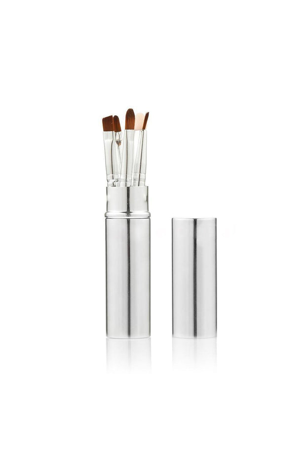 5 Piece Silver Eyeshadow Brush Set