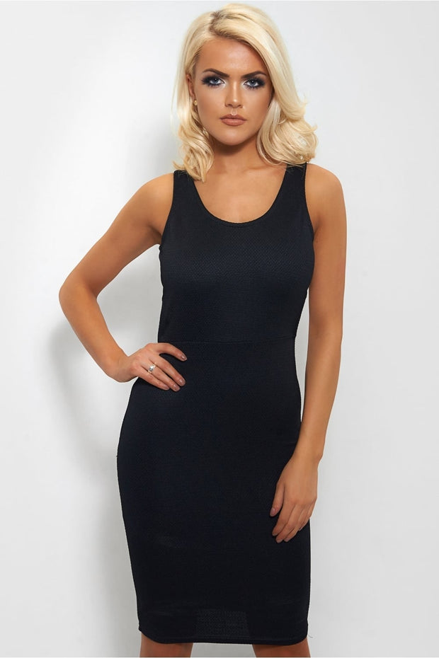 Lorna Strap Back Bodycon Dress In Black