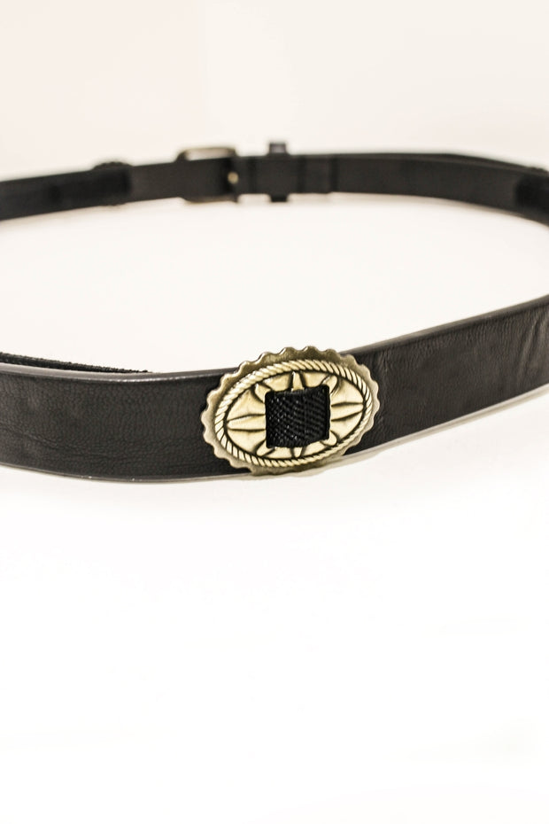Camino Black Disc Western Belt