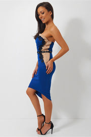 Tia Blue Lace Bodycon Dress