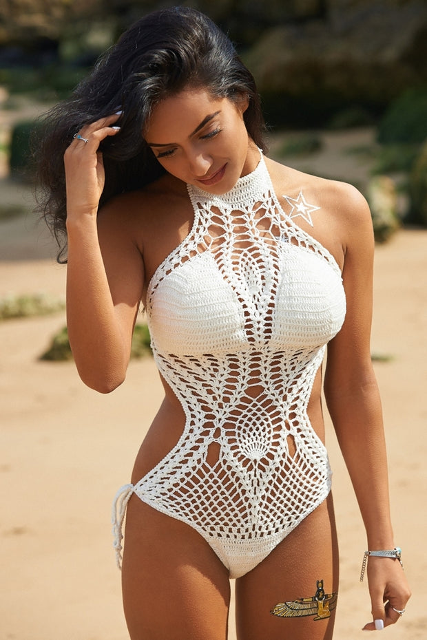 Bohemia White Crochet Swimsuit