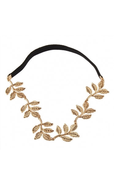 Gold Leaves Grecian Headband