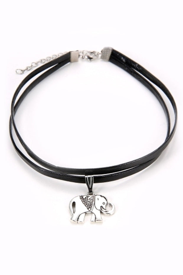 Black Elephant Choker