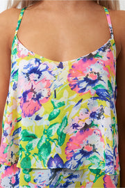 Siah Cross Back Floral Camisole Top