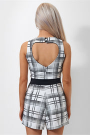 Casey Black Monochrome Playsuit