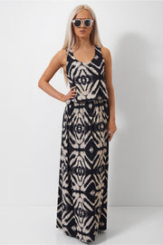 Racer Back Tribal Maxi Dress