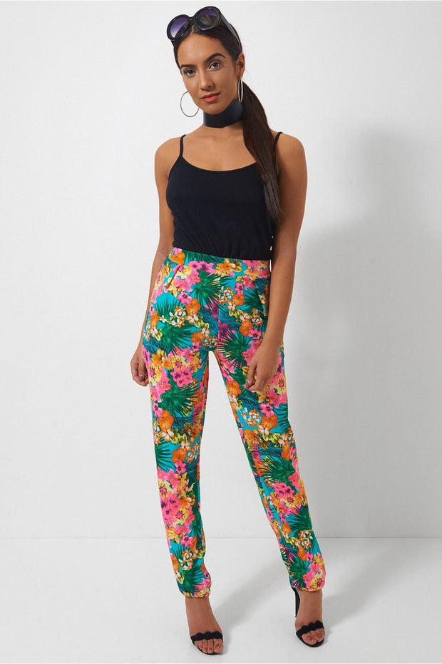 Santorini Tropical Print Trousers