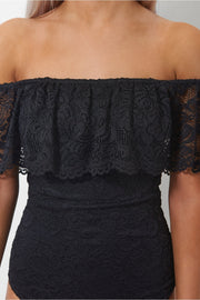 Bardot Black Lace Bodysuit