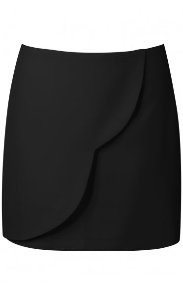 Flynne Black Scallop Edge Mini Skirt