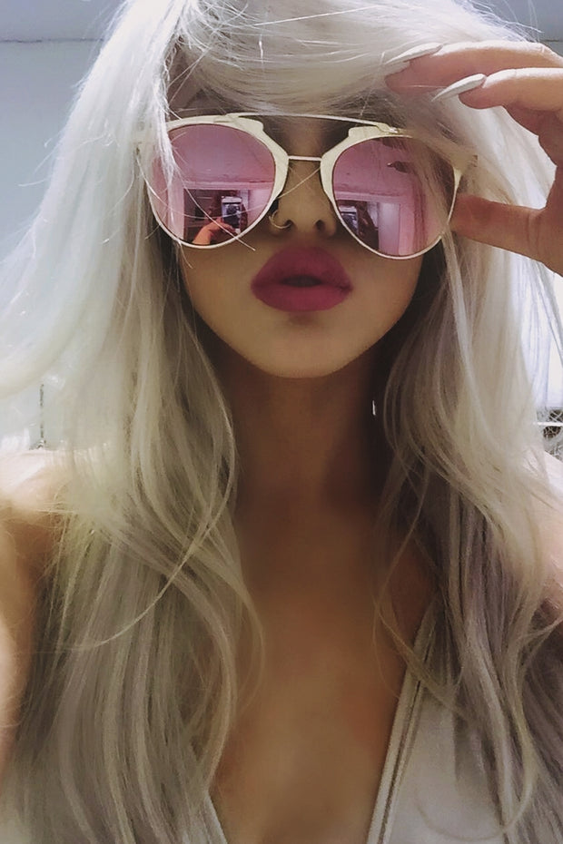 Pink & Gold Sunglasses