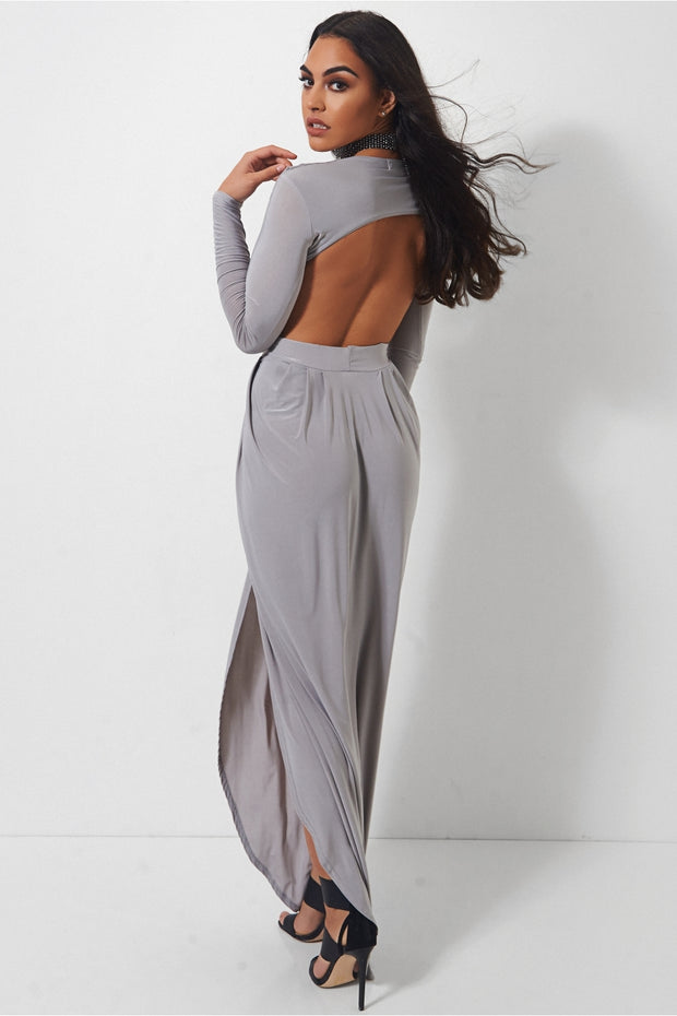 Ola Grey Goddess Maxi Dress