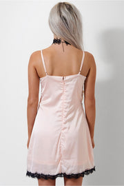 Siri Pink Lace Trim Camisole Dress