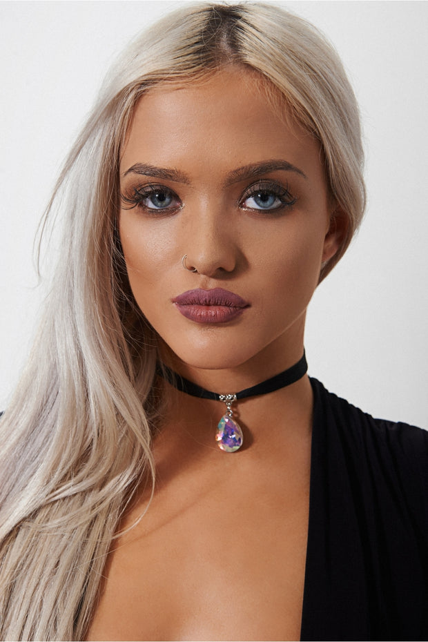 Mermaid Teardrop Choker Necklace