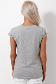 I Am Unicorn Grey Slogan Tee