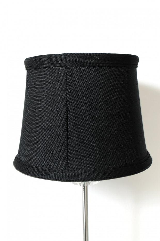 Black Crystal Silver Table Lamp